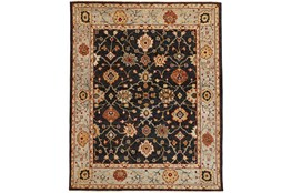 """7'8""""x9'8"""" Rug-Gramoy Hand Knotted Charcoal/Light Blue"""