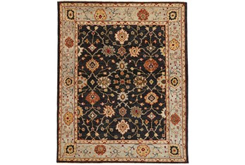 """8'5""""x11'5"""" Rug-Gramoy Hand Knotted Charcoal/Light Blue"""