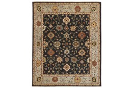 "9'5""x13'5"" Rug-Gramoy Hand Knotted Charcoal/Light Blue"