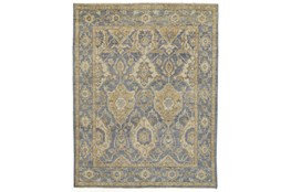 """7'8""""x9'8"""" Rug-Gramoy Hand Knotted Light Blue/Beige"""