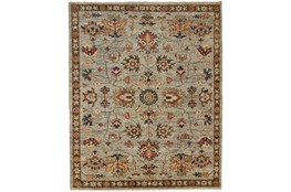"""7'8""""x9'8"""" Rug-Gramoy Hand Knotted Green/Grey"""