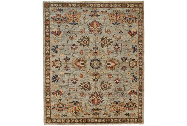 """7'8""""x9'8"""" Rug-Gramoy Hand Knotted Green/Grey - 360"""