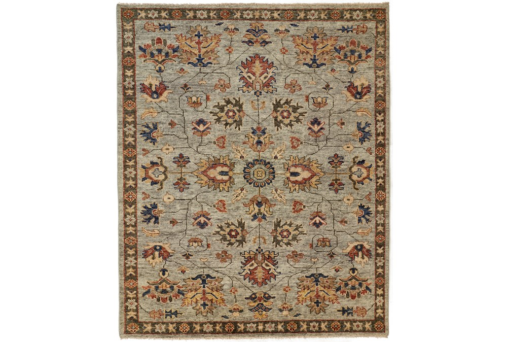 """9'5""""x13'5"""" Rug-Gramoy Hand Knotted Green/Grey"""
