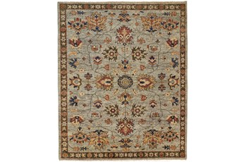 114X162 Rug-Gramoy Hand Knotted Green/Grey