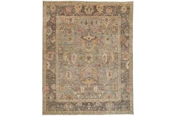 93X117 Rug-Gramoy Hand Knotted Grey/Pink