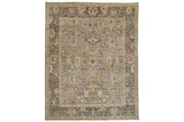 """7'8""""x9'8"""" Rug-Gramoy Hand Knotted Grey/Pink"""