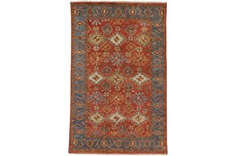 """2'5""""x8' Rug-Gramoy Hand Knotted Orange/Blue"""