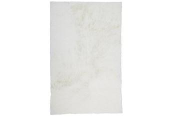 4'x6' Rug-Feather Soft Shag White