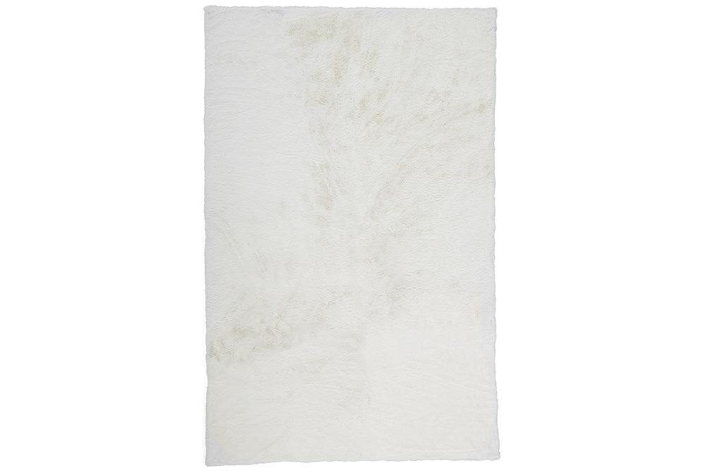 60X84 Rug-Feather Soft Shag White