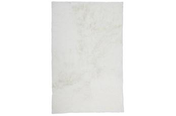 5'x7' Rug-Feather Soft Shag White