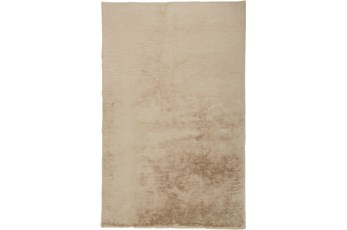 48X72 Rug-Feather Soft Shag Beige