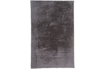 48X72 Rug-Feather Soft Shag Light Grey