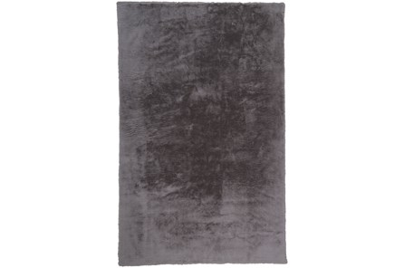 48X72 Rug-Feather Soft Shag Light Grey - Main