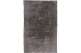 4'x6' Rug-Feather Soft Shag Light Grey
