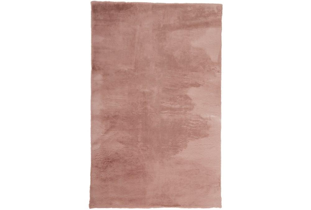 4'x6' Rug-Feather Soft Shag Pink