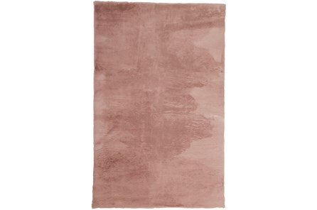 48X72 Rug-Feather Soft Shag Pink - Main