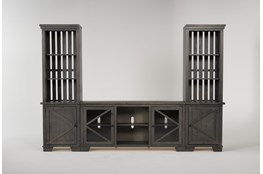 "Sinclair II Grey 118"" 3 Piece Entertainment Center"