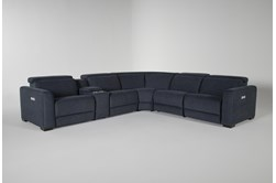 Chanel Denim 6 Piece Power Reclining Sectional