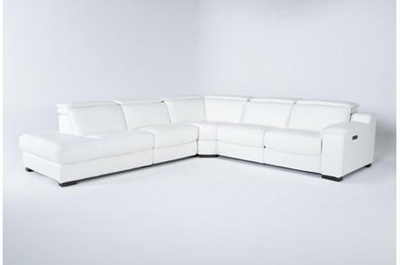 Hana White Leather 4 Piece 113