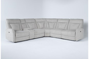 "Halina 6 Piece 124"" Power Reclining Sectional"