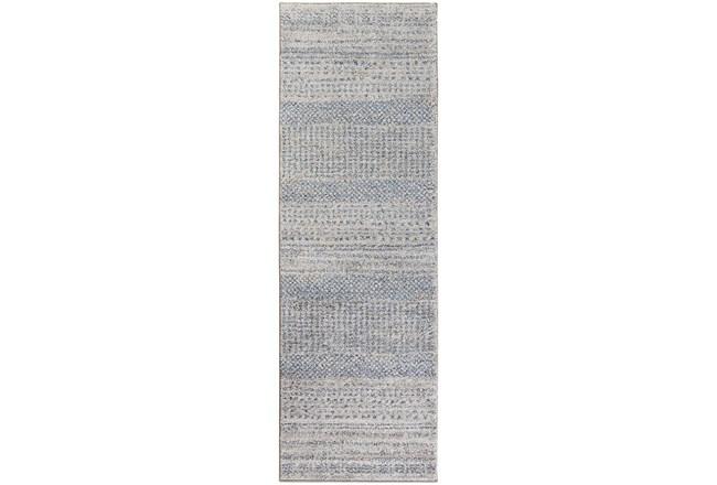 31X96 Rug-Print Lines Zora Blue - 360