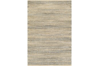 5'x8' Rug-Jute Stripes Blue/Natural