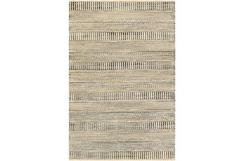 96X120 Rug-Jute Stripes Blue/Natural