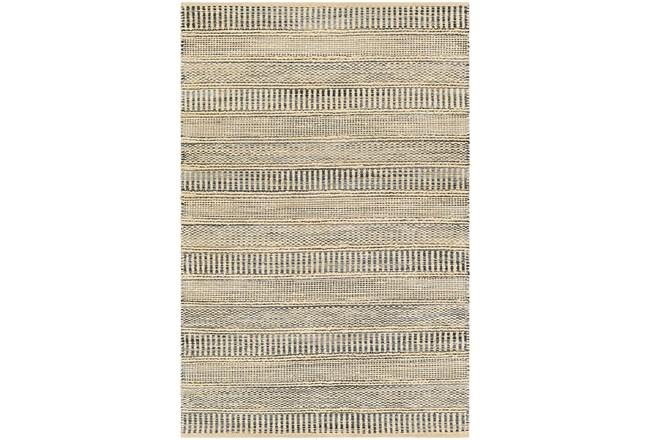 8'x10' Rug-Jute Stripes Blue/Natural - 360