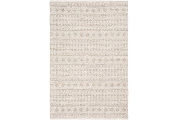 4'x6' Rug-Diamond Stripe Flat Weave Natural