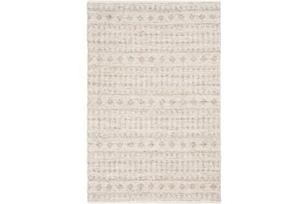 48X72 Rug-Diamond Stripe Flat Weave Natural - Main