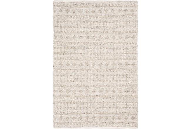4'x6' Rug-Diamond Stripe Flat Weave Natural - 360