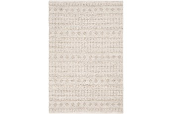 96X120 Rug-Diamond Stripe Flat Weave Natural