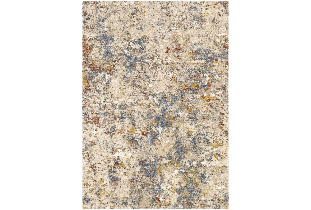 24X36 Rug-Abstract Blue/Metallic Gold