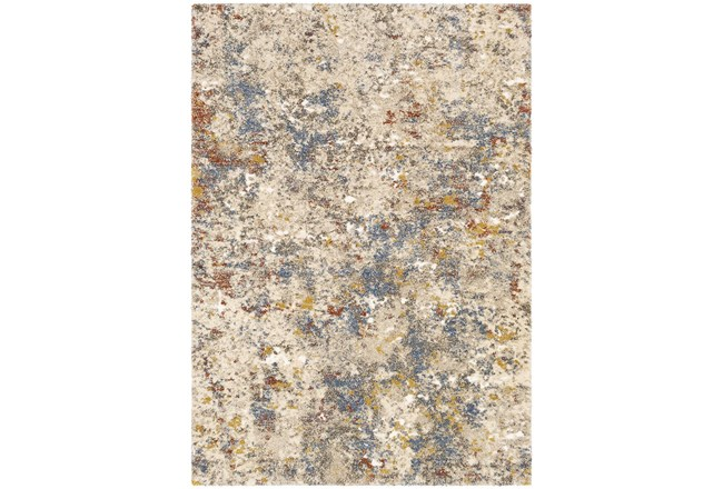 94X123 Rug-Abstract Blue/Metallic Gold - 360
