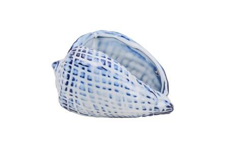 Blue Ceramic Seashell, Blue - Main