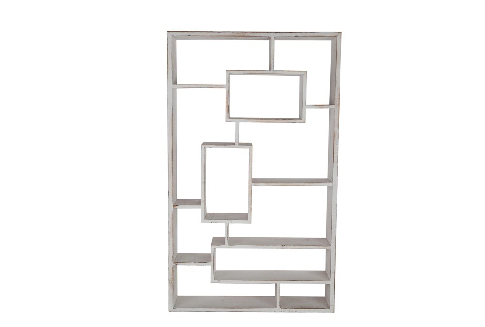 Whitewash Multi Tier Wall Shelf