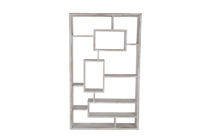 Whitewash Multi Tier Wall Shelf  - 360