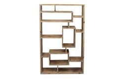Brown Wooden Multi Level Wall Shelf