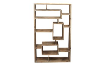 Brown Wooden Multi Level Wall Shelf