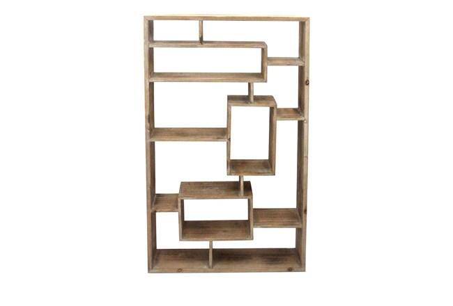 Brown Wooden Multi Level Wall Shelf - 360