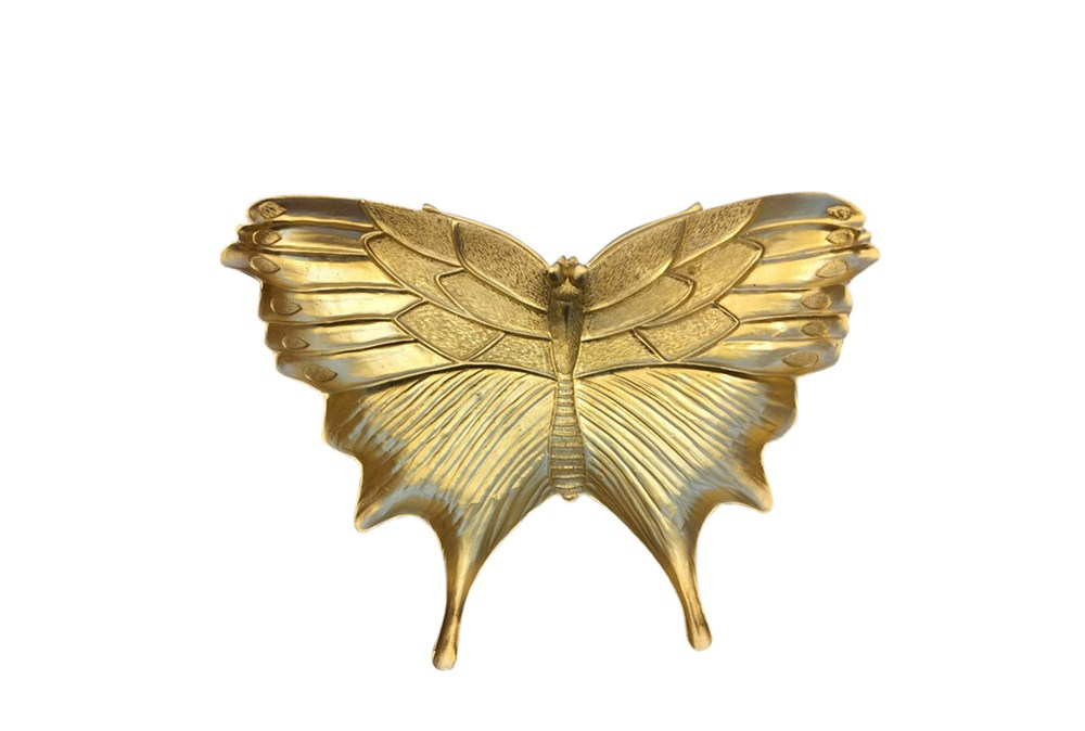 Gold Resin Butterfly Plate