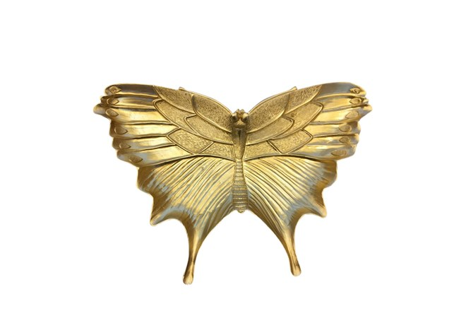 Gold Resin Butterfly Plate - 360