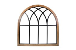 "Arch 37.5"", Brown, Metal/Wood"