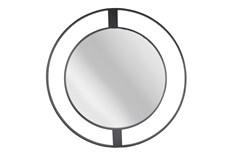 "Metal Frame Wall Mirror 36"", Black"