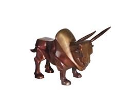 14 Inch Brass Aluminum Bull Sculpture
