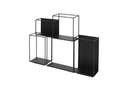 22 Inch Metal Black Cubed Wall Decor