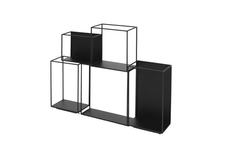 22 Inch Metal Black Cubed Wall Decor - Main