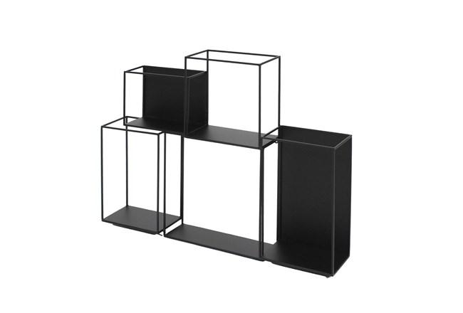 22 Inch Metal Black Cubed Wall Decor - 360
