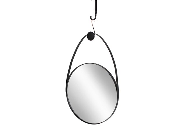 27 Inch Metal Oval Mirror - 360