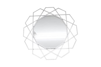 35 Inch Geometric Wall Mirror
